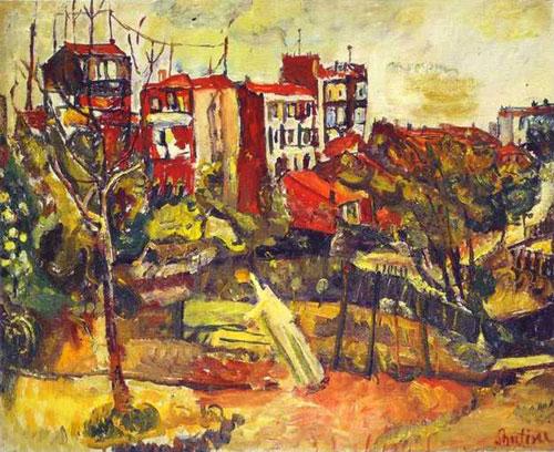 Хаим Сутин. Пейзаж с красными домами